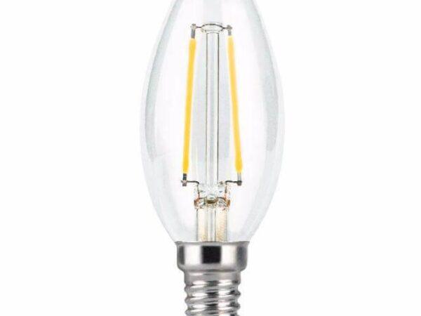 Лампа светодиодная филаментная Gauss E14 7W 2700К прозрачная 103801107