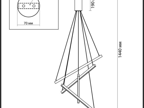Подвесной светодиодный светильник Odeon Light Cometa 3860/48B