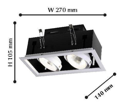 Встраиваемый светодиодный светильник Favourite Flashled 1985-2C