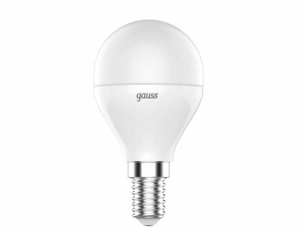 Лампа светодиодная диммируемая Gauss E14 6W RGBW матовая 105101406
