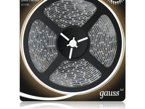 Светодиодная влагозащищенная лента Gauss 4,8W/m 60LED/m 2835SMD теплый белый 5M 311000105
