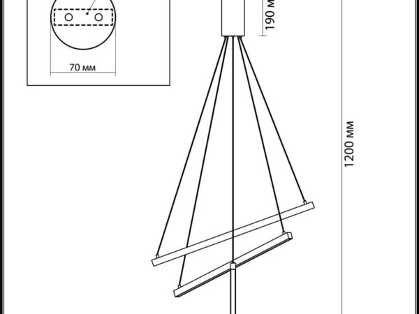 Подвесной светодиодный светильник Odeon Light Cometa 3860/39L