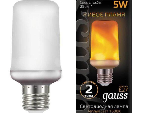 Лампа светодиодная Gauss E27 5W 1500K матовая 157402105