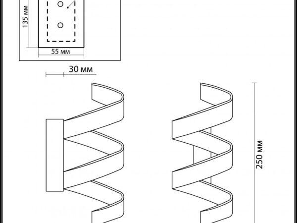 Настенный светодиодный светильник Odeon Light Spira 3832/9WL