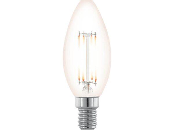 Лампа светодиодная филаментная диммируемая Eglo E14 3,5W 2200К прозрачная 11708