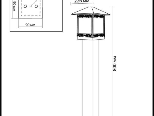 Уличный светильник Odeon Light Novara 2644/1A