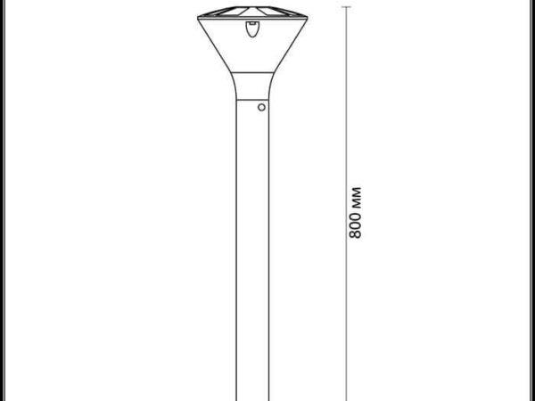 Уличный светильник Odeon Light Lenar 4046/1F