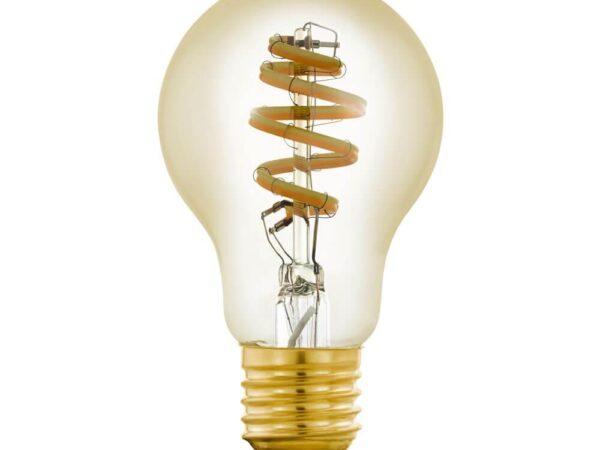 Лампа светодиодная филаментная диммируемая Eglo E27 5,5W 2200-6500K золотистая 12578