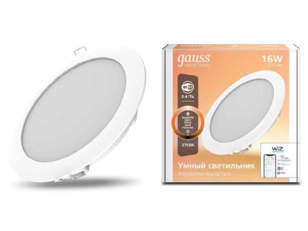 Встраиваемый светодиодный светильник Gauss 2020122