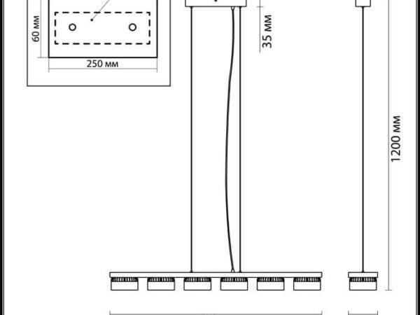 Подвесная светодиодная люстра Odeon Light Vivace 3818/60L