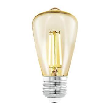 Лампа светодиодная филаментная Eglo E27 3,5W 2200К янтарь 11553