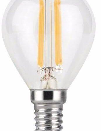 Лампа светодиодная филаментная Gauss E14 7W 4100К прозрачная 105801207