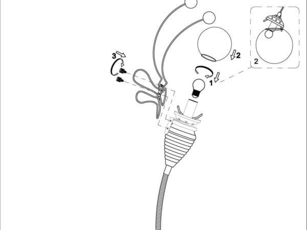 Настольная лампа Odeon Light Trolo 2633/1T