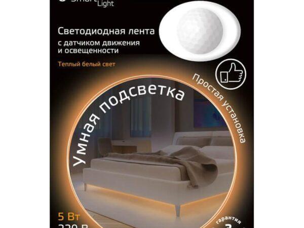 Светодиодная влагозащищенная лента Gauss 4,5W/m 30LED/m 2835SMD теплый белый 1,2M 311011105