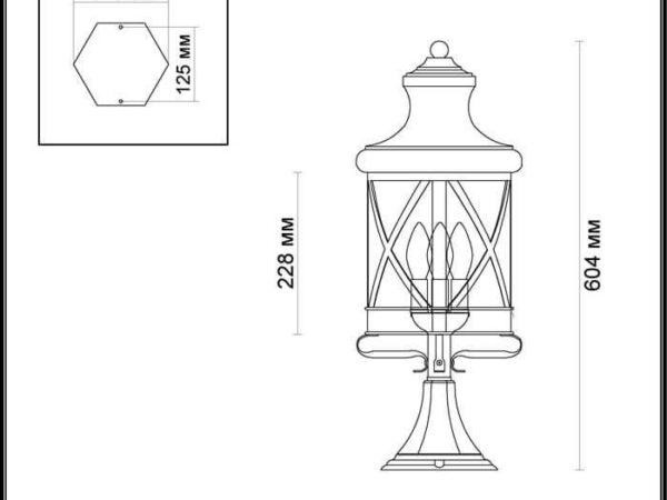 Уличный светильник Odeon Light Sation 4045/3B