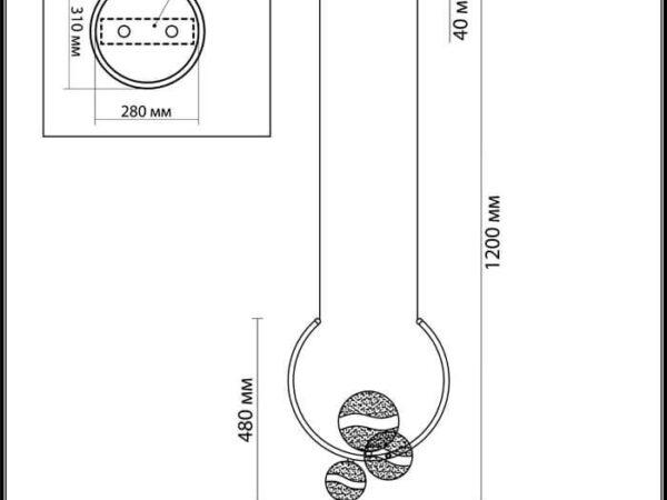 Подвесная светодиодная люстра Odeon Light Domus 4192/25L