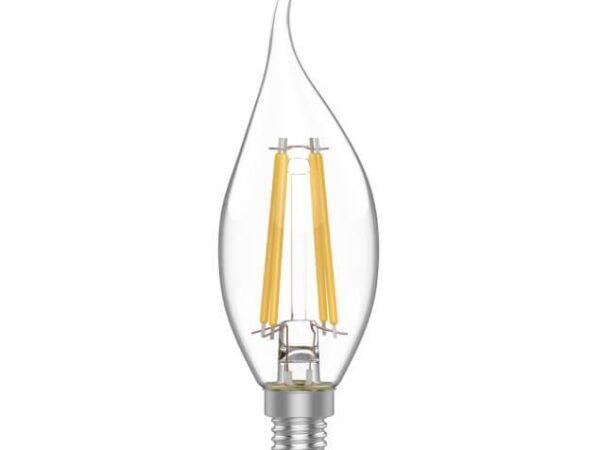Лампа светодиодная филаментная Gauss E14 4,5W 2700K прозрачная 1041115