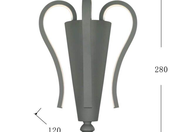Настенный светодиодный светильник Favourite Castro 2592-3W