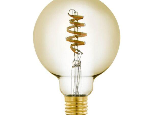 Лампа светодиодная филаментная диммируемая Eglo E27 5,5W 2200-6500K золотистая 12581