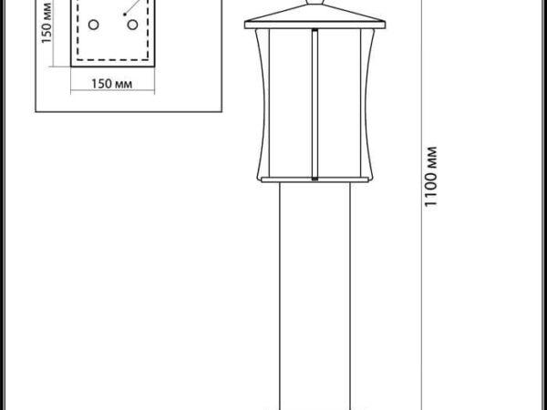 Уличный светильник Odeon Light Galen 4173/1F
