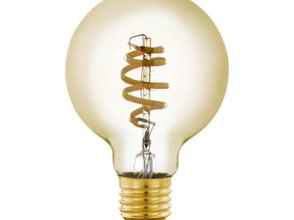 Лампа светодиодная филаментная диммируемая Eglo E27 5,5W 2200-6500K золотистая 12579