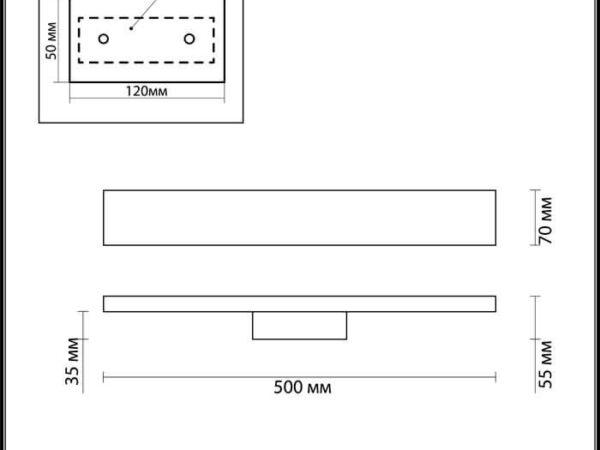 Настенный светодиодный светильник Odeon Light Woody 3868/8WA