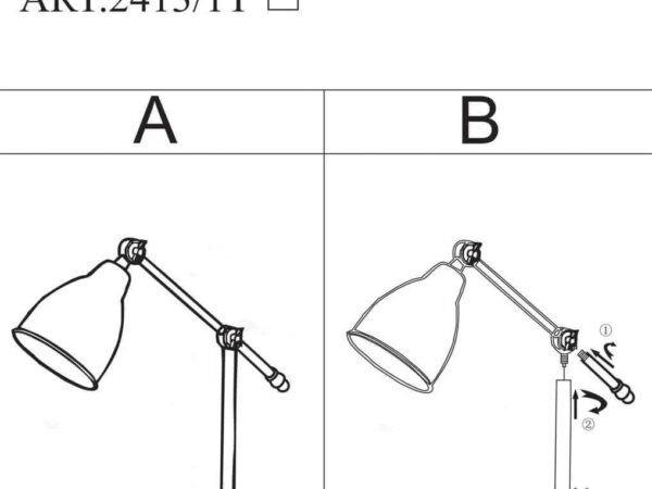 Настольная лампа Odeon Light Cruz 2413/1T