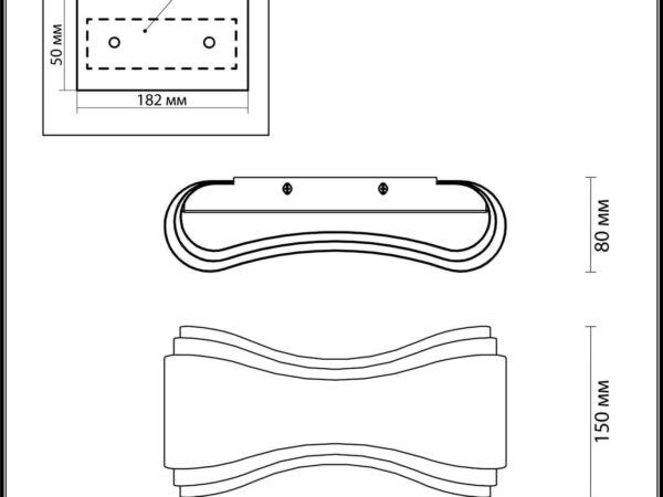 Настенный светодиодный светильник Odeon Light Farfi 3894/8WS