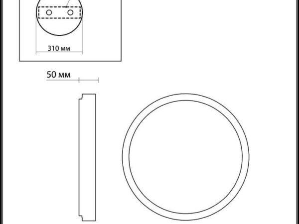 Потолочный светодиодный светильник Odeon Light Selena 4626/48CL