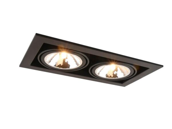 Встраиваемый светильник Arte Lamp Cardani Semplice A5949PL-2BK