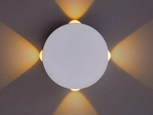 Настенный светодиодный светильник Arte Lamp Tamburello A1525AP-1WH