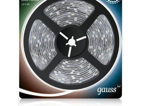 Светодиодная влагозащищенная лента Gauss 7,2W/m 30LED/m 5050SMD RGB 5M 311000407