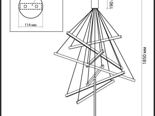 Подвесной светодиодный светильник Odeon Light Cometa 3860/96B