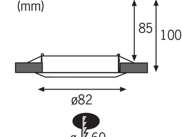 Встраиваемый светодиодный светильник Paulmann EBL Set Led 3955