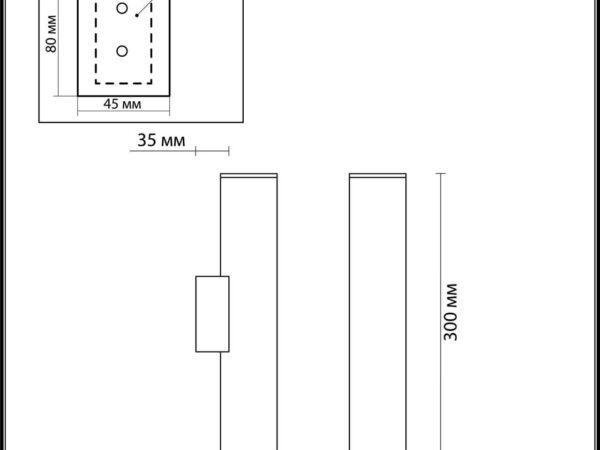 Настенный светодиодный светильник Odeon Light Dario 3833/2WA