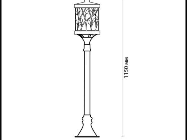 Уличный светильник Odeon Light Lagra 2287/1A
