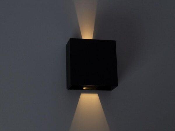 Уличный настенный светодиодный светильник Arte Lamp Algol A1445AL-1BK