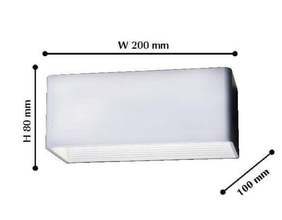 Уличный настенный светодиодный светильник Favourite Twinser 1997-1W