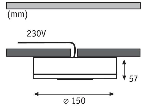 Потолочный светодиодный светильник Paulmann Premium Line Whirl 92736