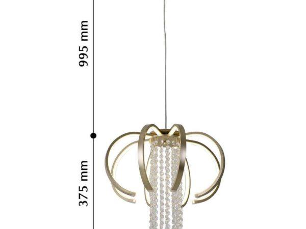 Подвесной светодиодный светильник Favourite Evolve 2530-8P