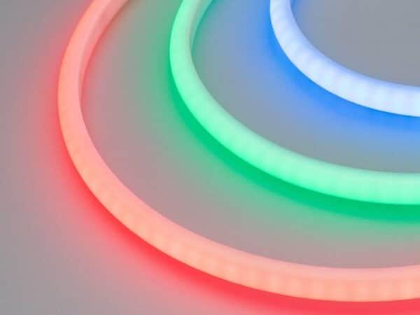 Светодиодная лента RTW-5000PWT-4040-120-24V RGB (13mm, 14W/m, IP68, High temp) (ARL, Герметичный)