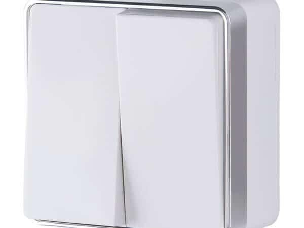 W5020001/ Выключатель двухклавишный Gallant (белый)