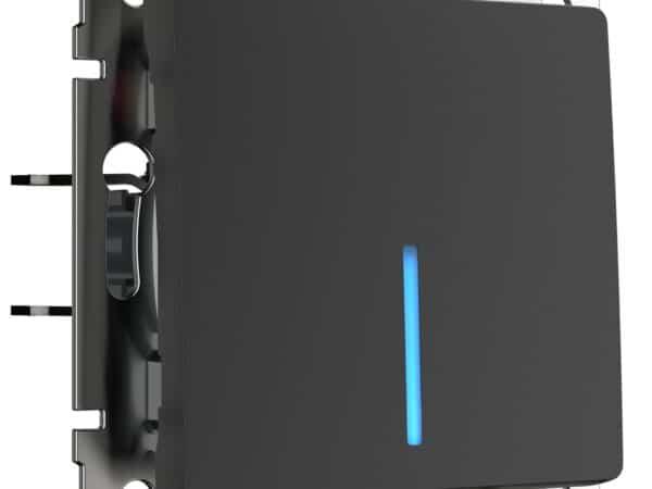 W1110108/ Выключатель одноклавишный с подсветкой (черный матовый)