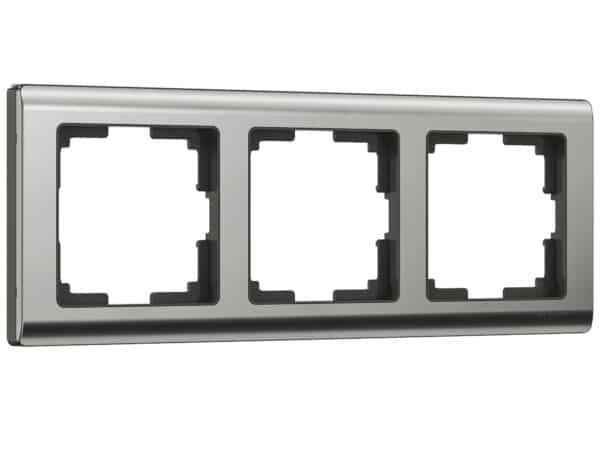 WL02-Frame-03 / Рамка на 3 поста (глянцевый никель)