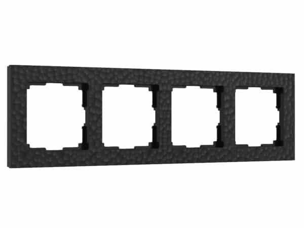 W0042408/ Рамка на 4 поста Hammer (черный)