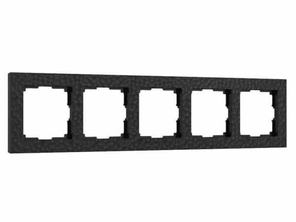 W0052408/ Рамка на 5 постов Hammer (черный)