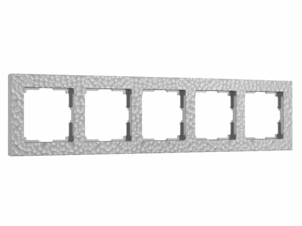 W0052406/ Рамка на 5 постов Hammer (серебряный)
