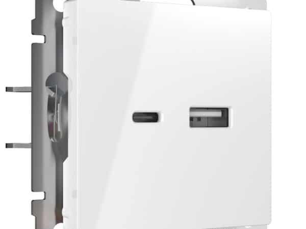 W1171801/ Розетка USB тип A+С (белый)